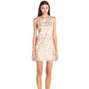 Vince Camuto Sleeveless Lace Shift Mini Dress D26